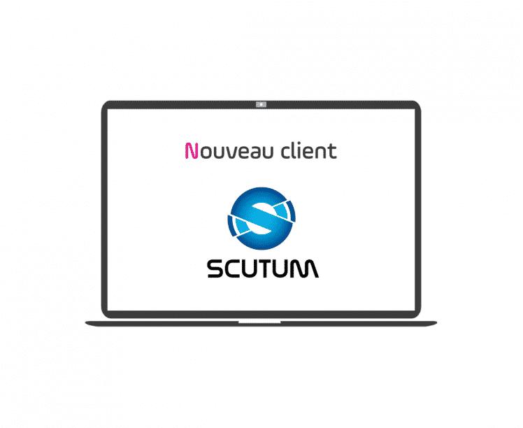 nouveau client - scutum - article - blog - logo - ordinateur