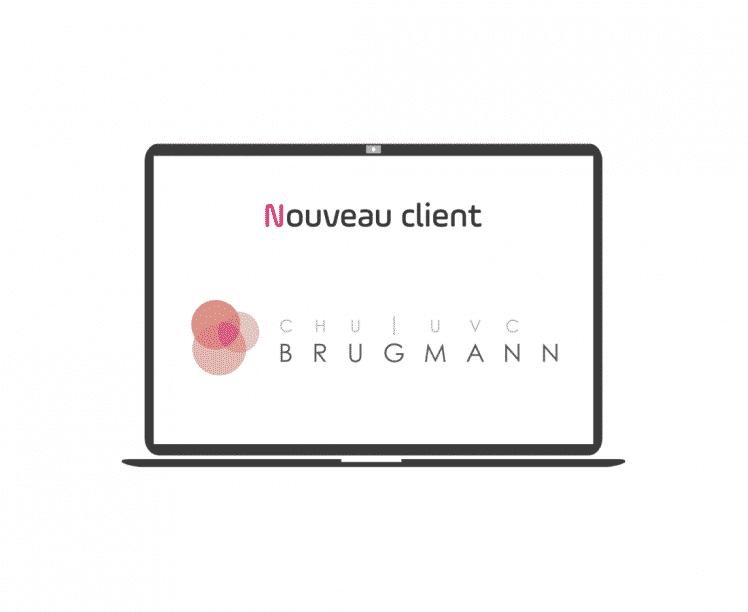 nouveau client - chu brugmann - article - blog - logo - ordinateur