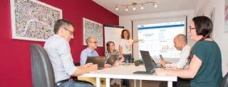 Démarche - pôle service - réunion d'équipe - virage group - project monitor - perf monitor