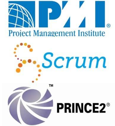 logo PMI et Scrum et Prince2