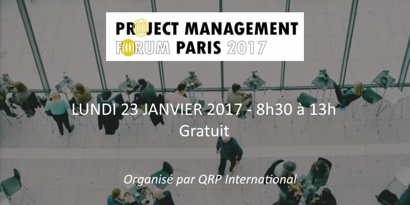 project management forum - paris - 2017 - QRP International - salon