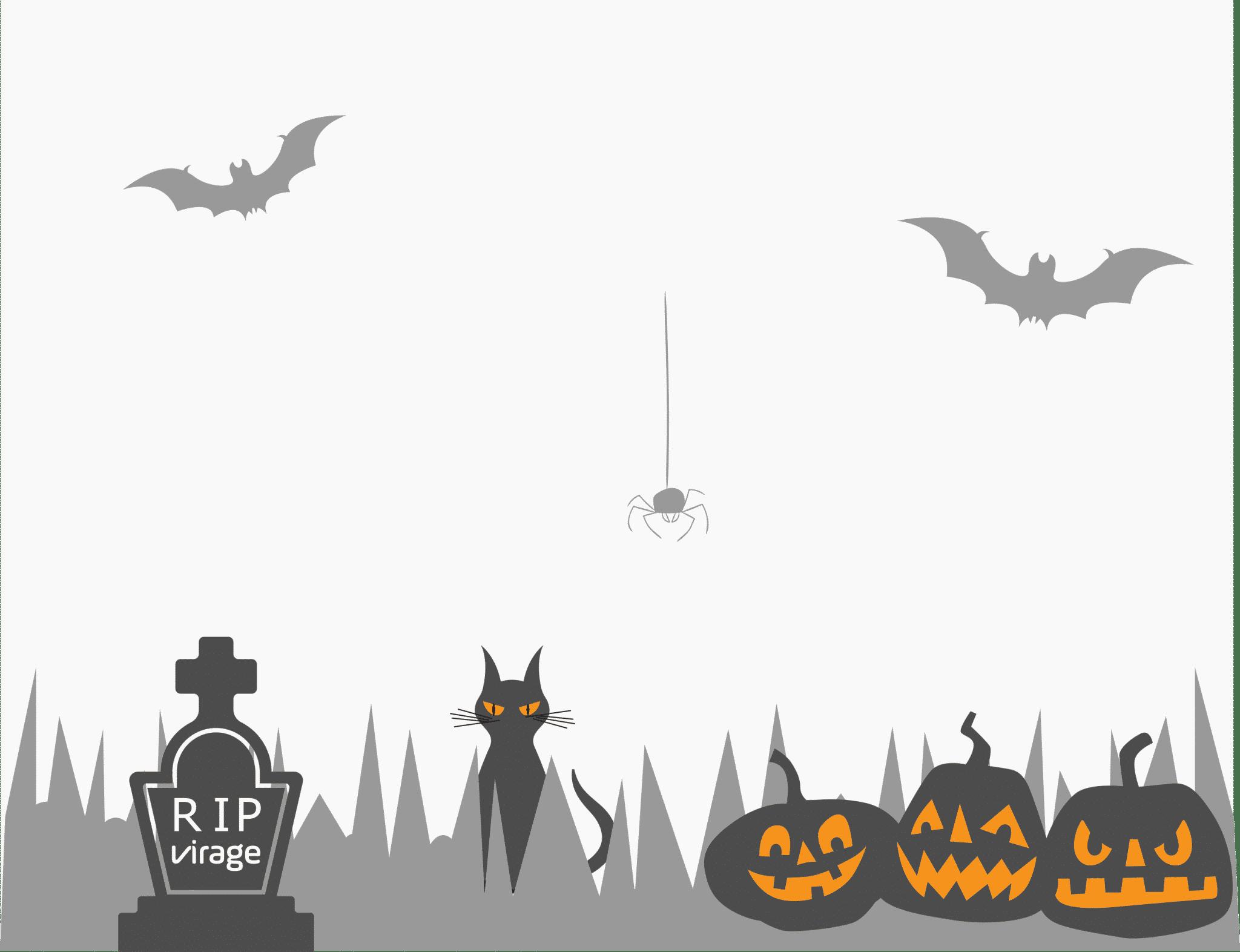 page de connexion - halloween - Project Monitor - application - logiciel - personnalisation