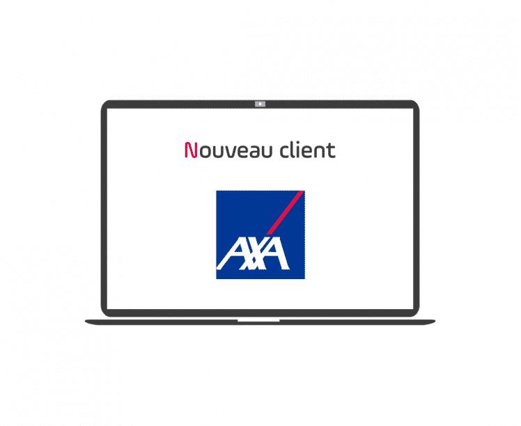 nouveau client - axa -france - article - blog - logo - ordinateur