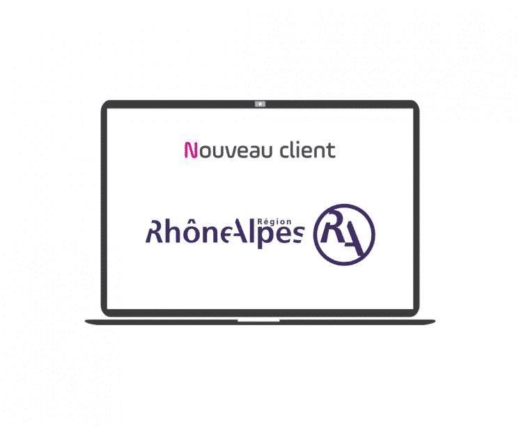 nouveau client - conseil régional - rhône alpes - article - blog - logo - ordinateur