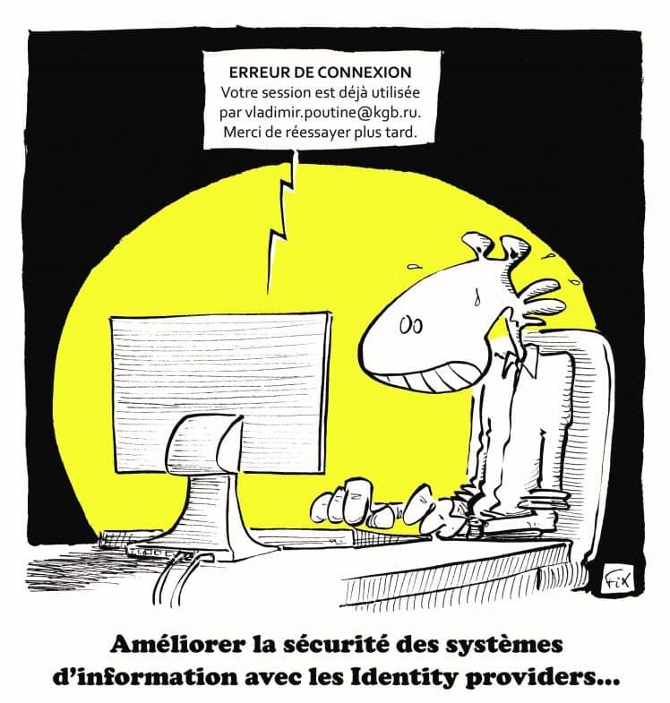 dessin fix - sécurité - identity provider - protection - février