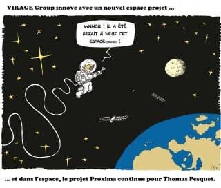 Dessin Fix - Caricature - Thomas Pesquet - Version 6.1 - Refonte espace projet