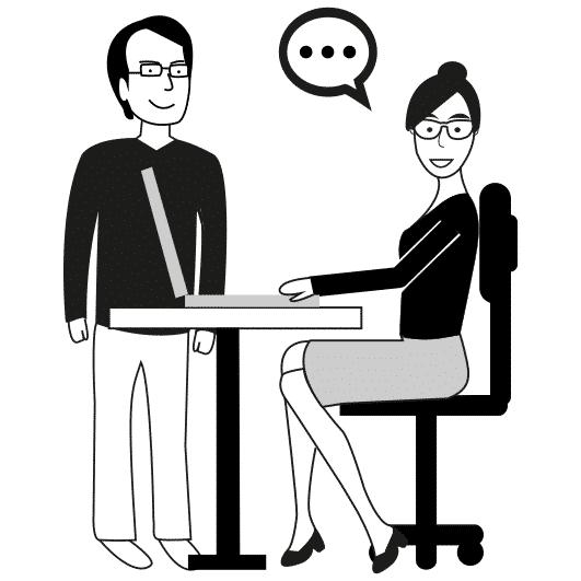 dessin communication entreprise noir et blanc