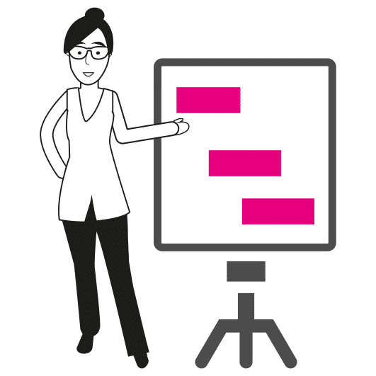 dessin gestion de projets conférence