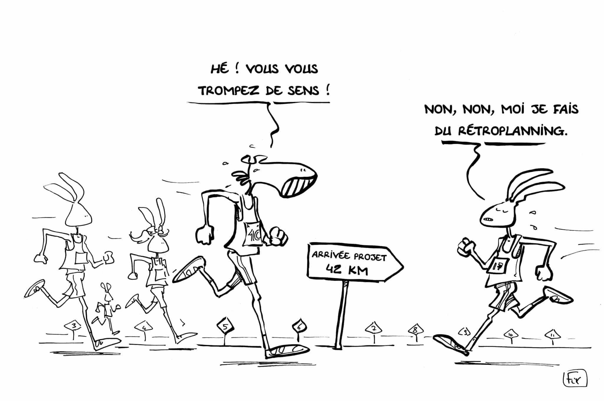 caricature marathon de Nantes 42 km