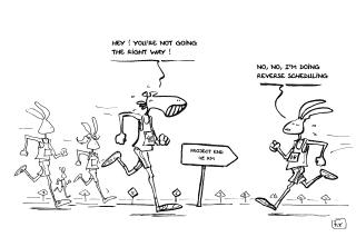 oeil de fix - caricature - marathon de Nantes - gestion de projet - reverse scheduling