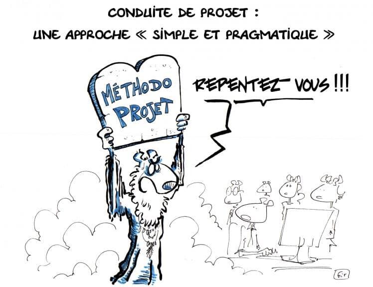 Dessin Fix - caricature - Méthode projet - gestion de projets