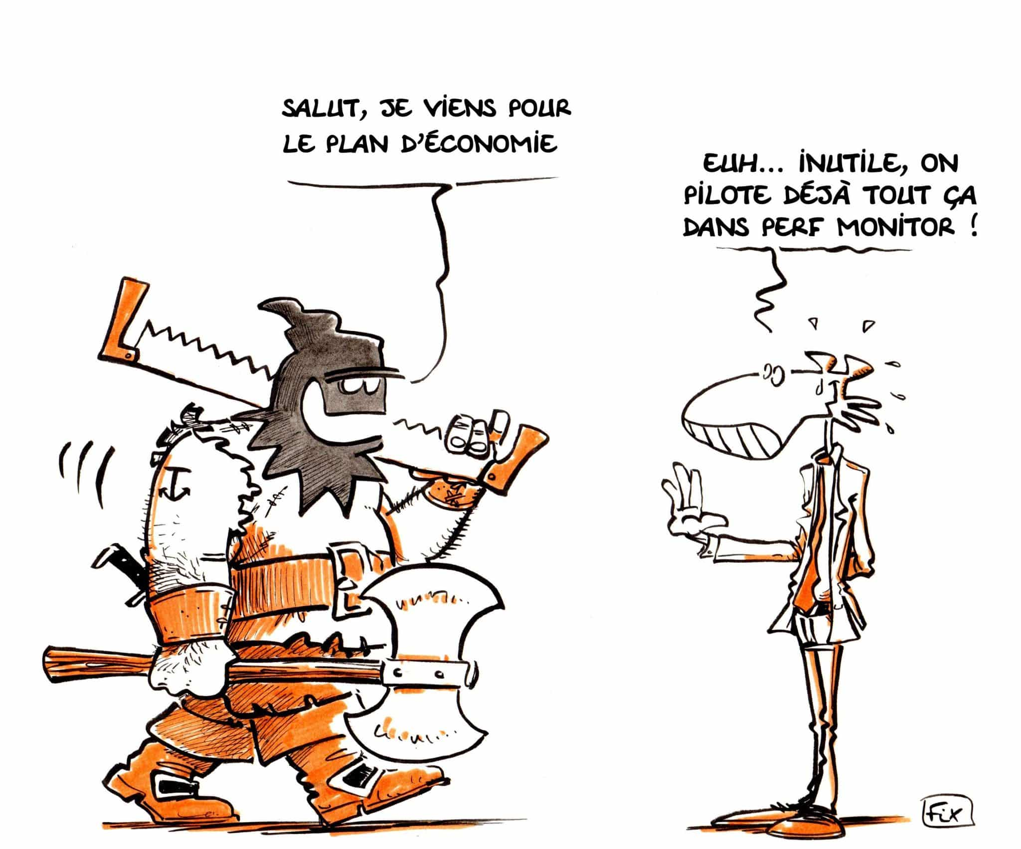 Plan d'économie - Perf Monitor - Fix - caricature - novembre - virage group