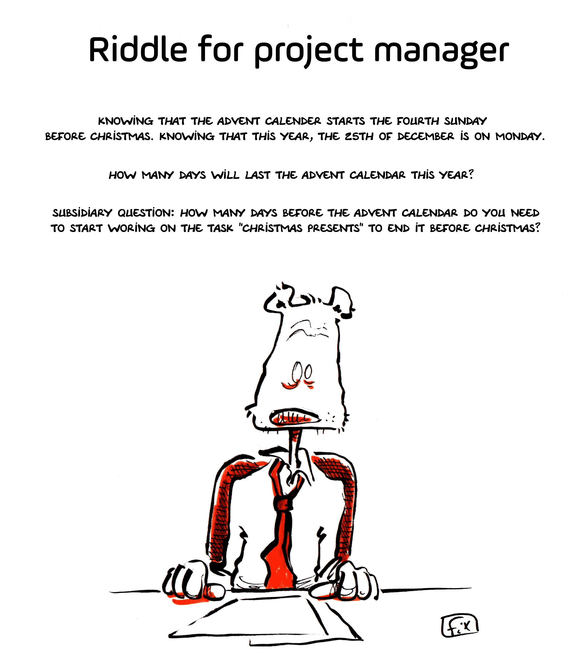 Project Manager riddle Christmas