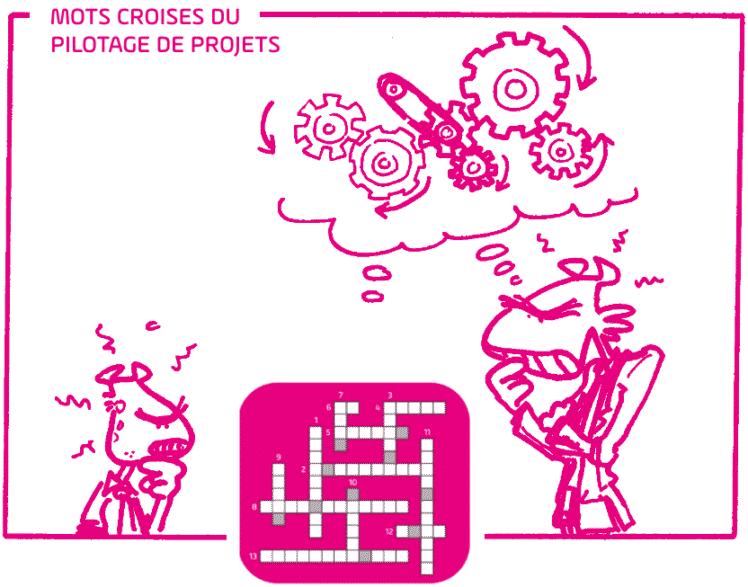 Gestion de projet - mots croisés - caricature fix