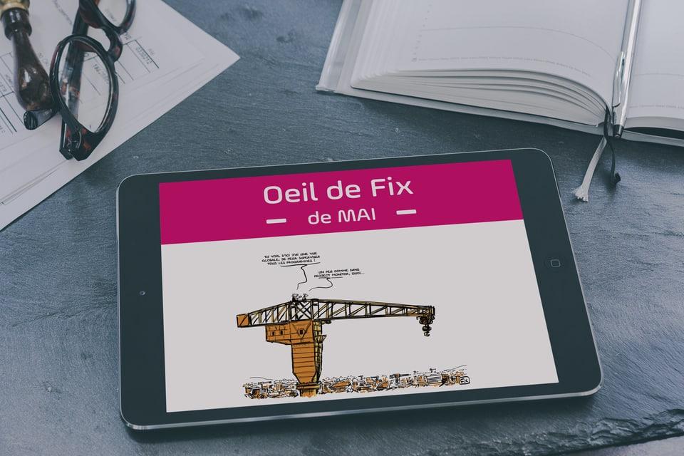 Caricature - Oeil de Fix - dessinateur - BTP - bâtiment - travaux publics - gestion de projet