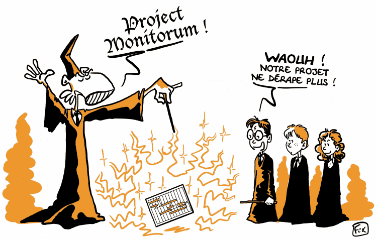 dessin FIX magicien project monitorum devant disciple
