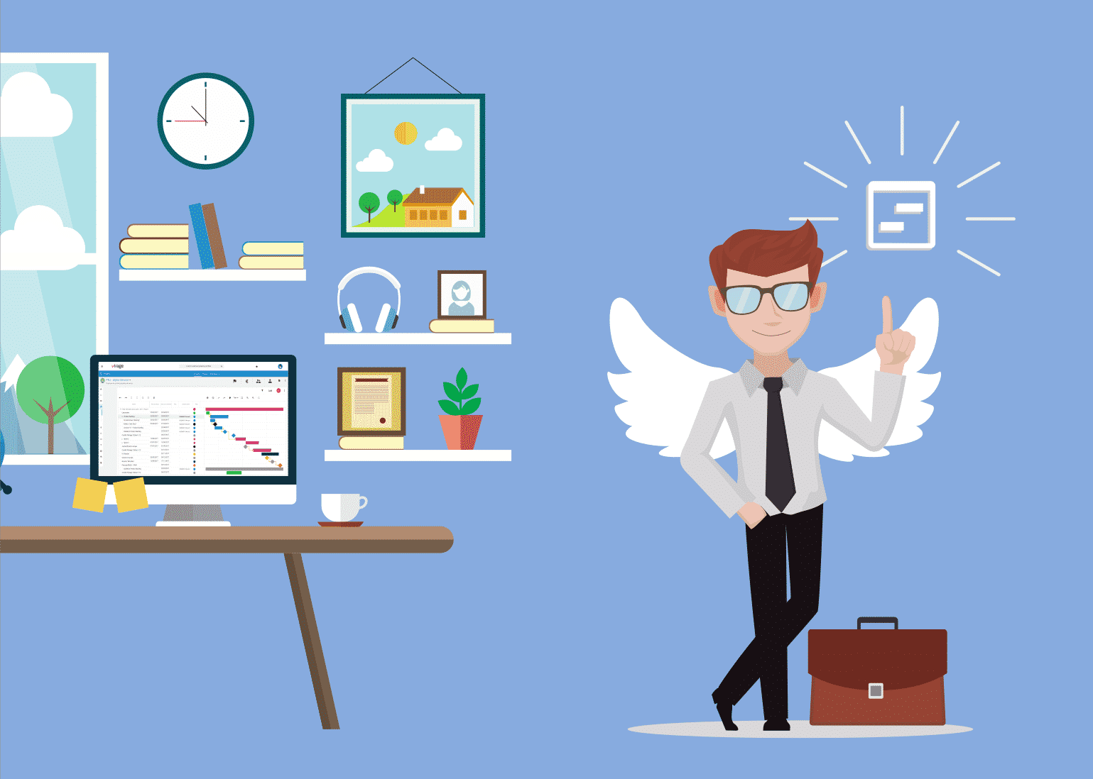 chef de projet - ANGE - idée - bureau - gestion de projet