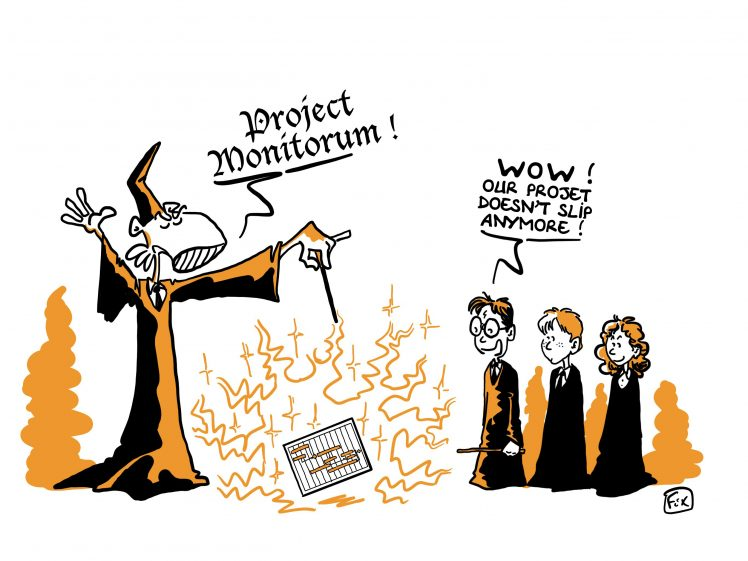 draw FIX magician project monitorum in front of harry potter