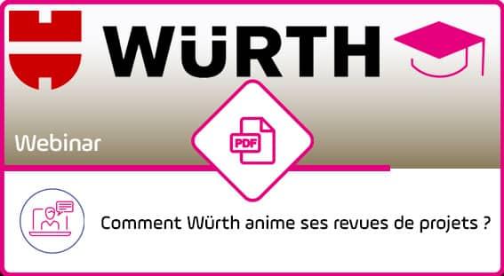 Wurth Webcast - Animer les Revues de projets - Support - Outil PPM