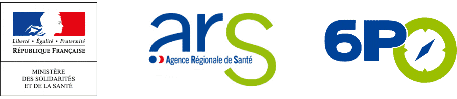 Logo du ministère des solidarités et de la santé, des Agences régionales de santé et du programme 6PO