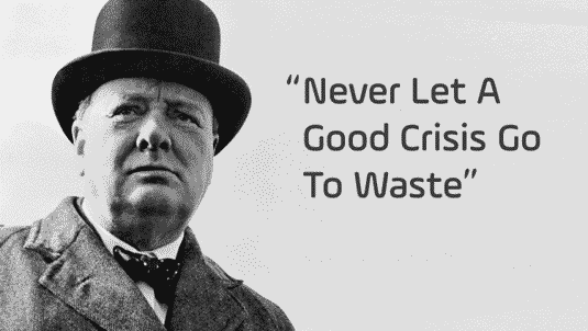 Ne gaspillons pas une gestion de crise - citation de Winston Churchill