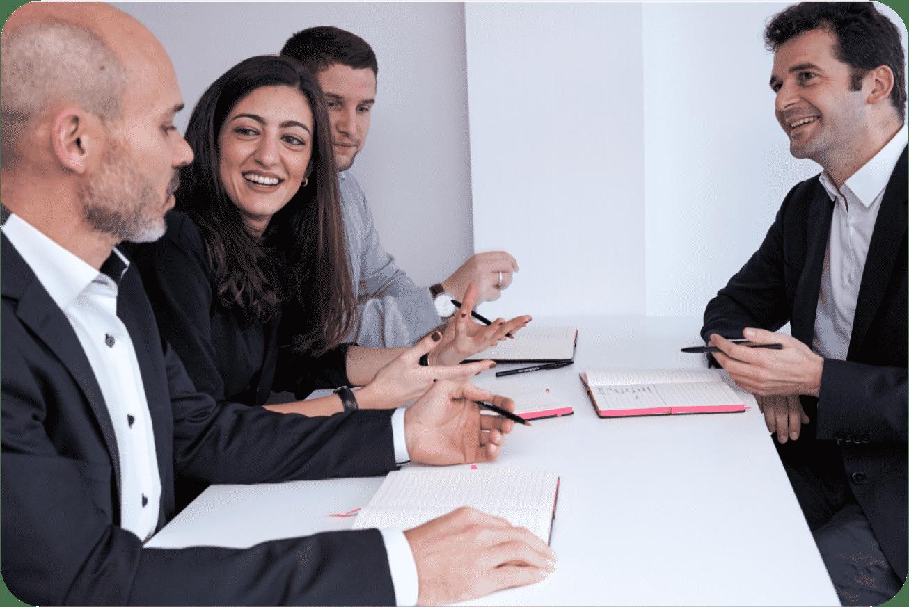 collaborateurs réunions gestion de portefeuille projets