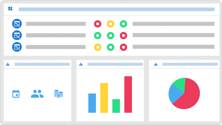 Flat design dashboard