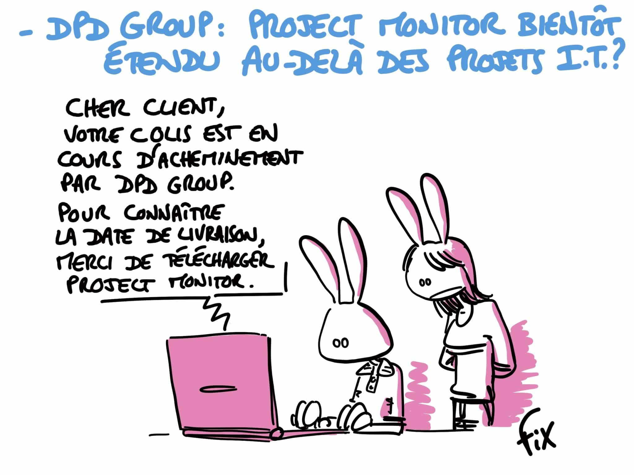 Caricature de FIX - DPD Group