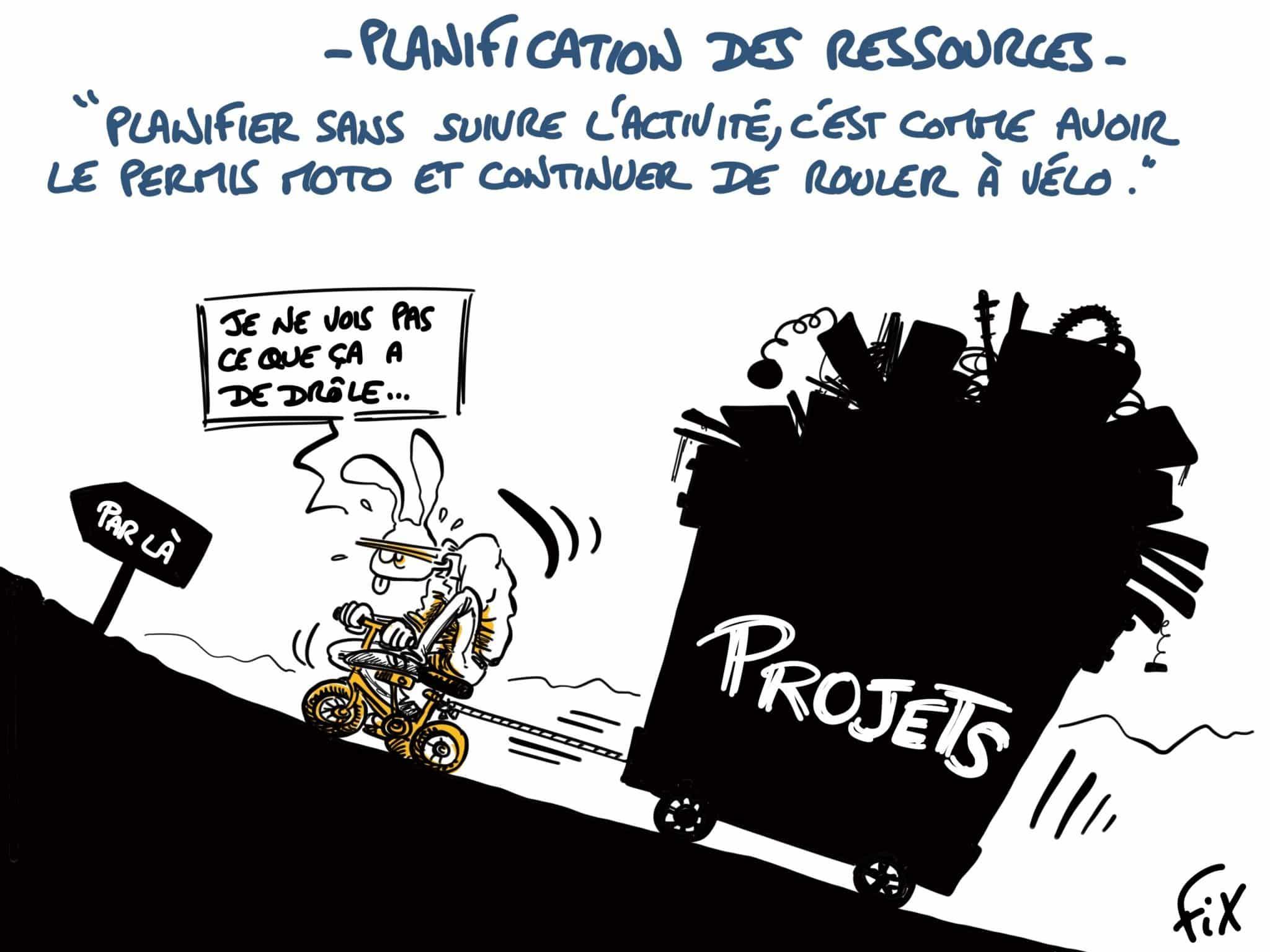 Caricature de FIX - La planification progressive