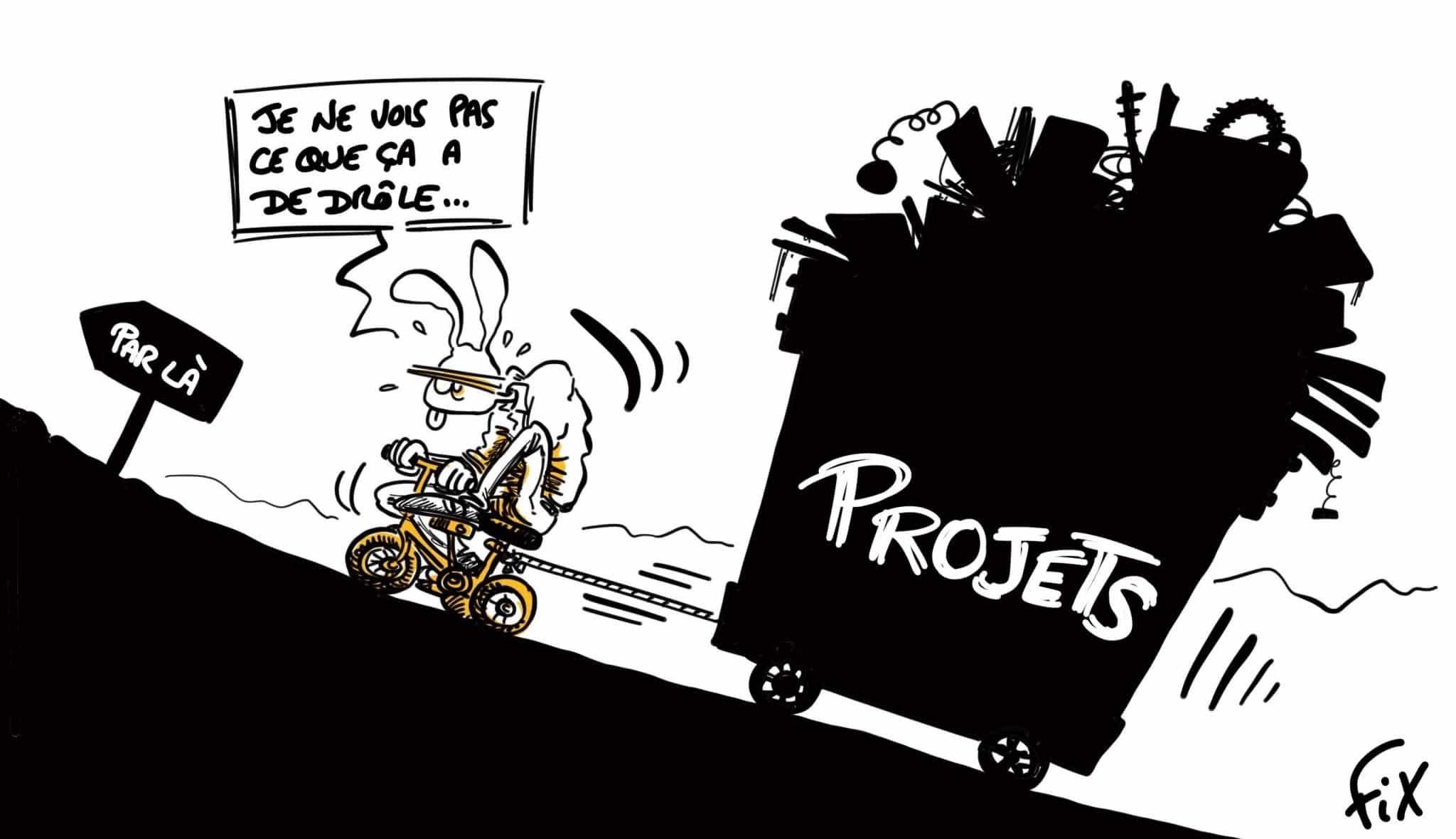 Caricature de FIX - Planification des ressources
