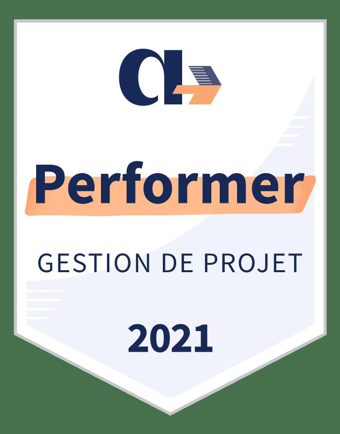 Badge Performer Gestion de Projet 2021 Appvizer